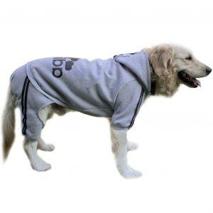 Scheppend Adidog Großer Hund Hoodies Haustier-Sweatshirt Wintermantel Sportkleidung