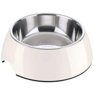 HUNTER Melamin-Napf, Futter- und Trinknapf für Hunde und Katzen, mit herausnehmbarem Edelstahlnapf, unifarben