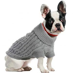 ubest Warme Hundepullover, Sweater Gestrickter Pullover für Kleine Hunde, Hunde Pullover Katzenpullover für Herbst Winter, 3 Farben,2 Typen, XS-XL