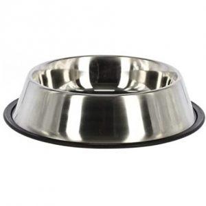 Kerbl Hundenapf Edelstahl, Hundefressnapf Wassernapf, rutschfest, 425-2800 ml