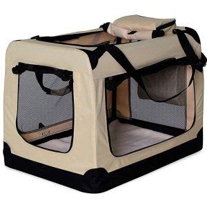 dibea Hundetransportbox Hundetasche Faltbare Transportbox Autobox Kleintiertasche