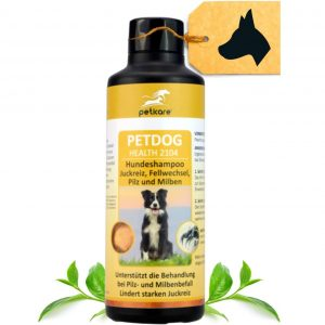 Peticare Hunde-Shampoo gegen Juckreiz Milben Pilz Floh
