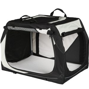 Trixie Hundetransportbox Vario, grau/schwarz