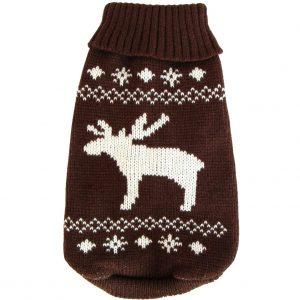 Wolters Strickpullover Elch Hunde Pullover Hundbekleidung XS - XL, versch. Farben