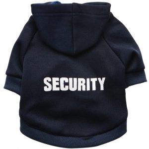 Zrong Kleine Hunde Haustier Kleidung Security Hoodie Warm Mantel Pullover Welpen Apparel