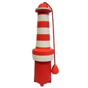 ROGZ LH02-C Lighthouse Dog Fetch Toy/schwimmendes Wurfspielzeug