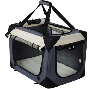EUGAD Hundebox Faltbare Hundetransportbox Auto Transportbox Reisebox Katzenbox Autobox mit Hundedecke Farbwahl EHT472