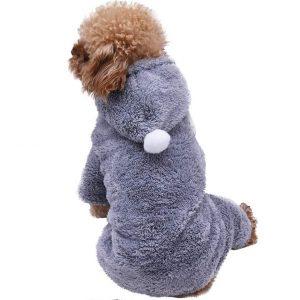 Smniao Hundebekleidung für Kleine Hunde Winter Warm Hoodies Haustier Puppy Sweatshirt Hund Schlafanzug für Katzen Kleidung Shirt